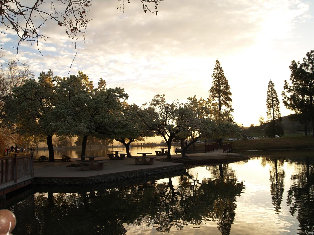 Sunset on Glen Helen Lake