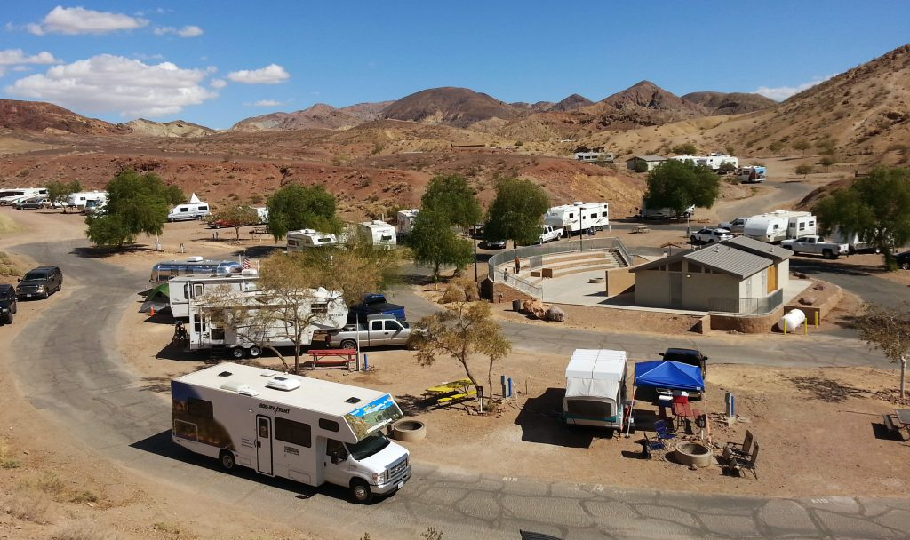 Camping at Calico Ghost Town