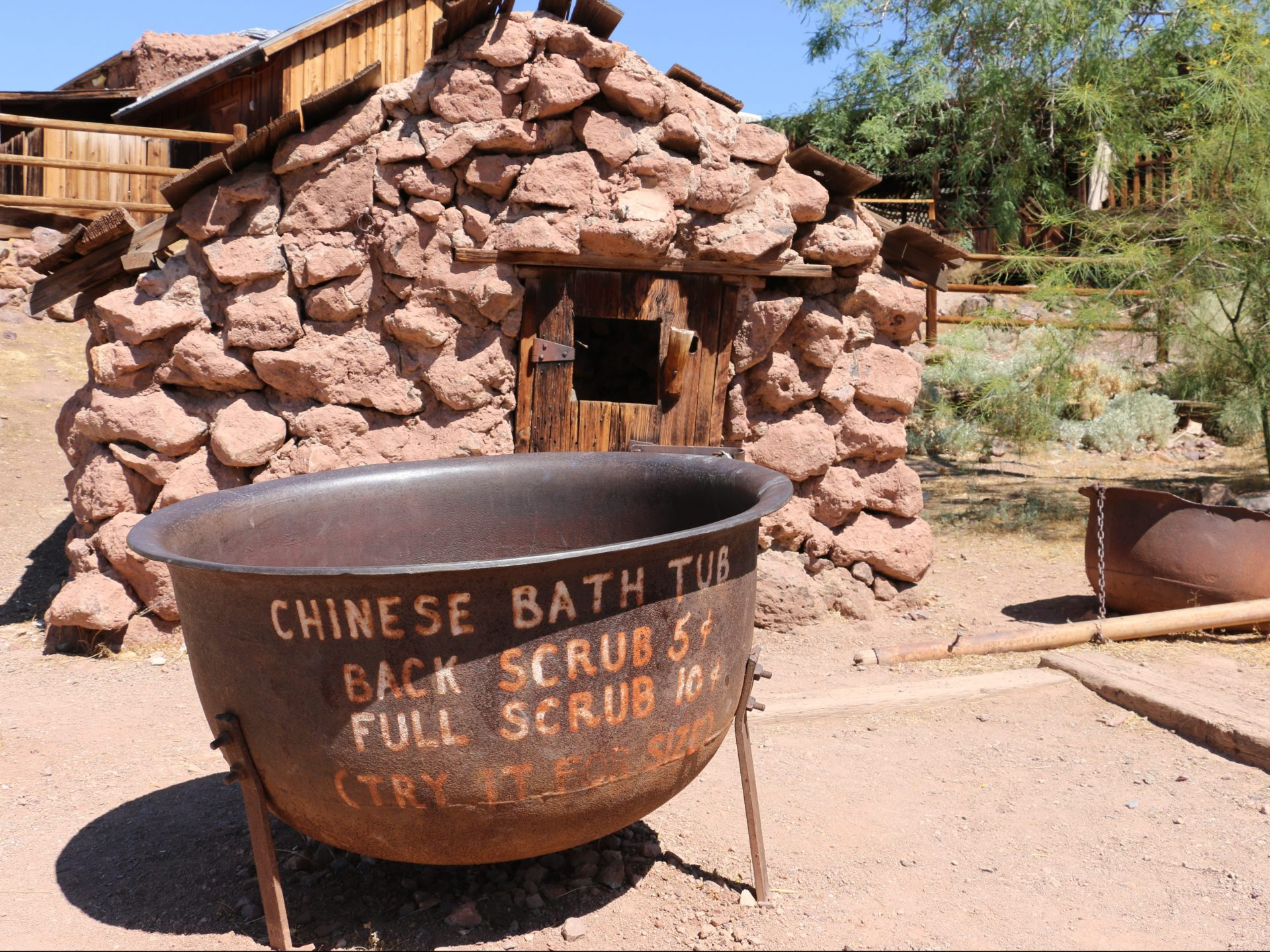 Chinese Bath at Calico Ghost Town