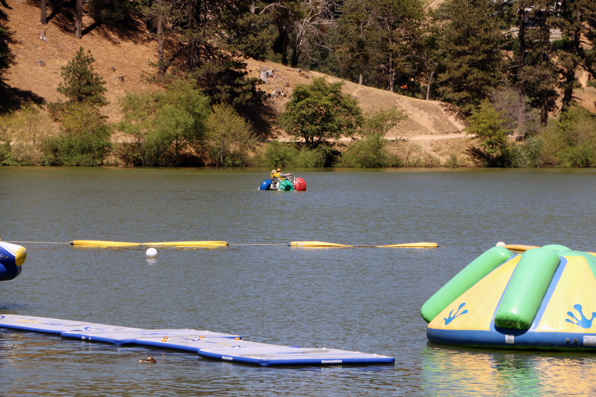 water playground on lake gregory