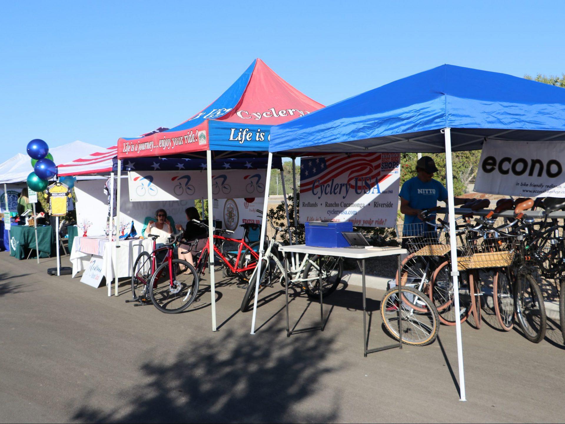 Vendors at bike event