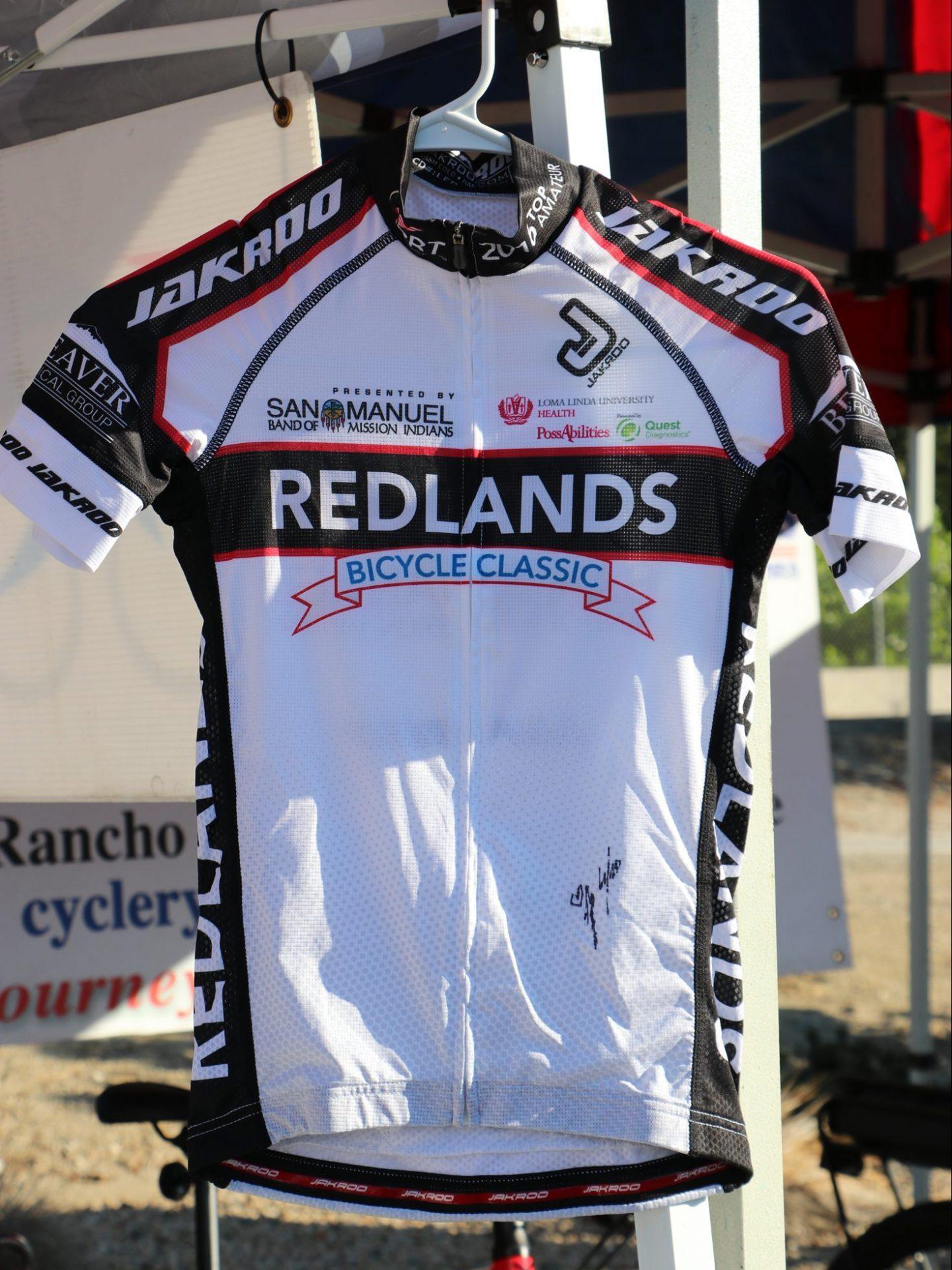 white bike jersey