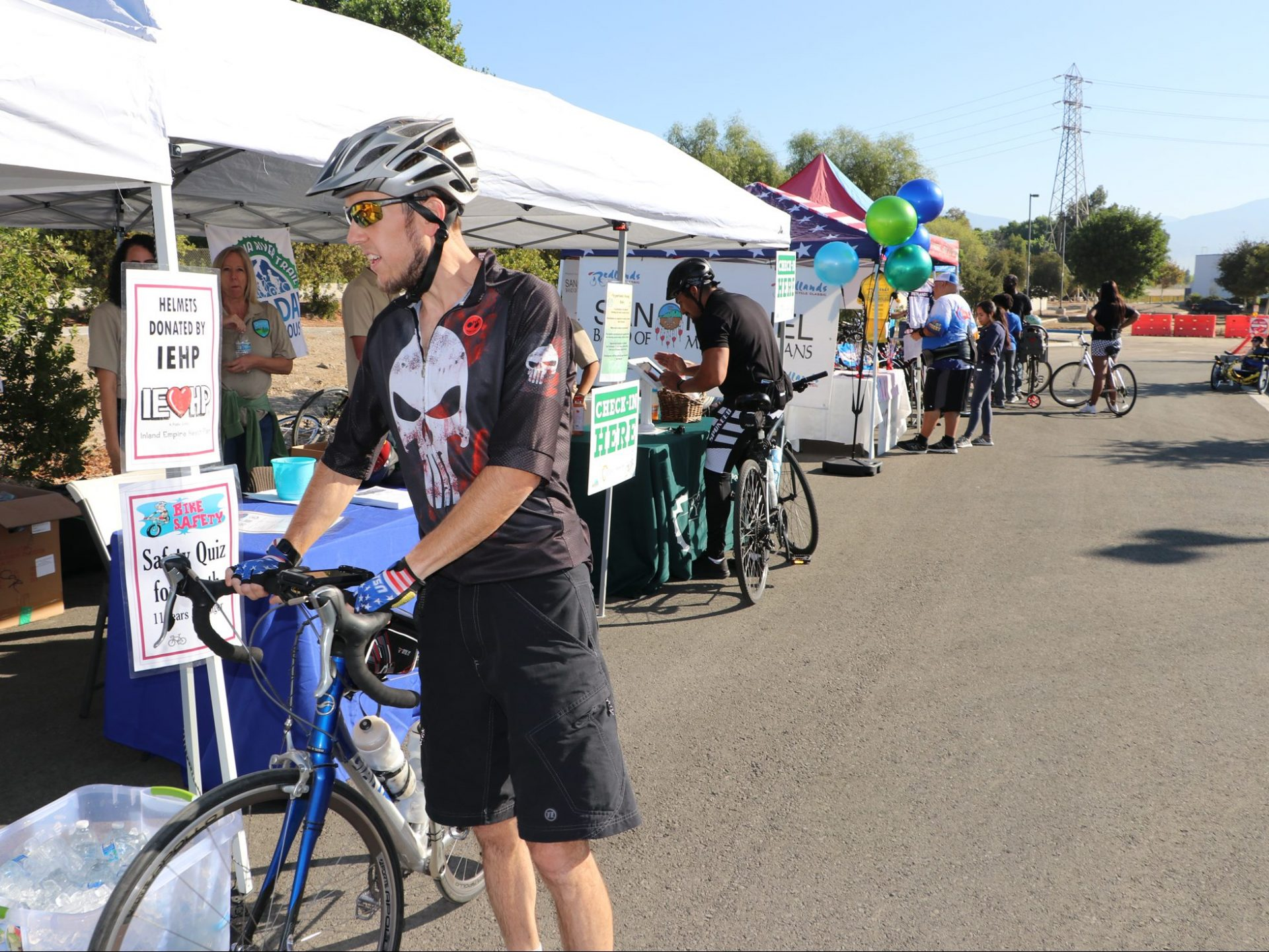 People at bike event