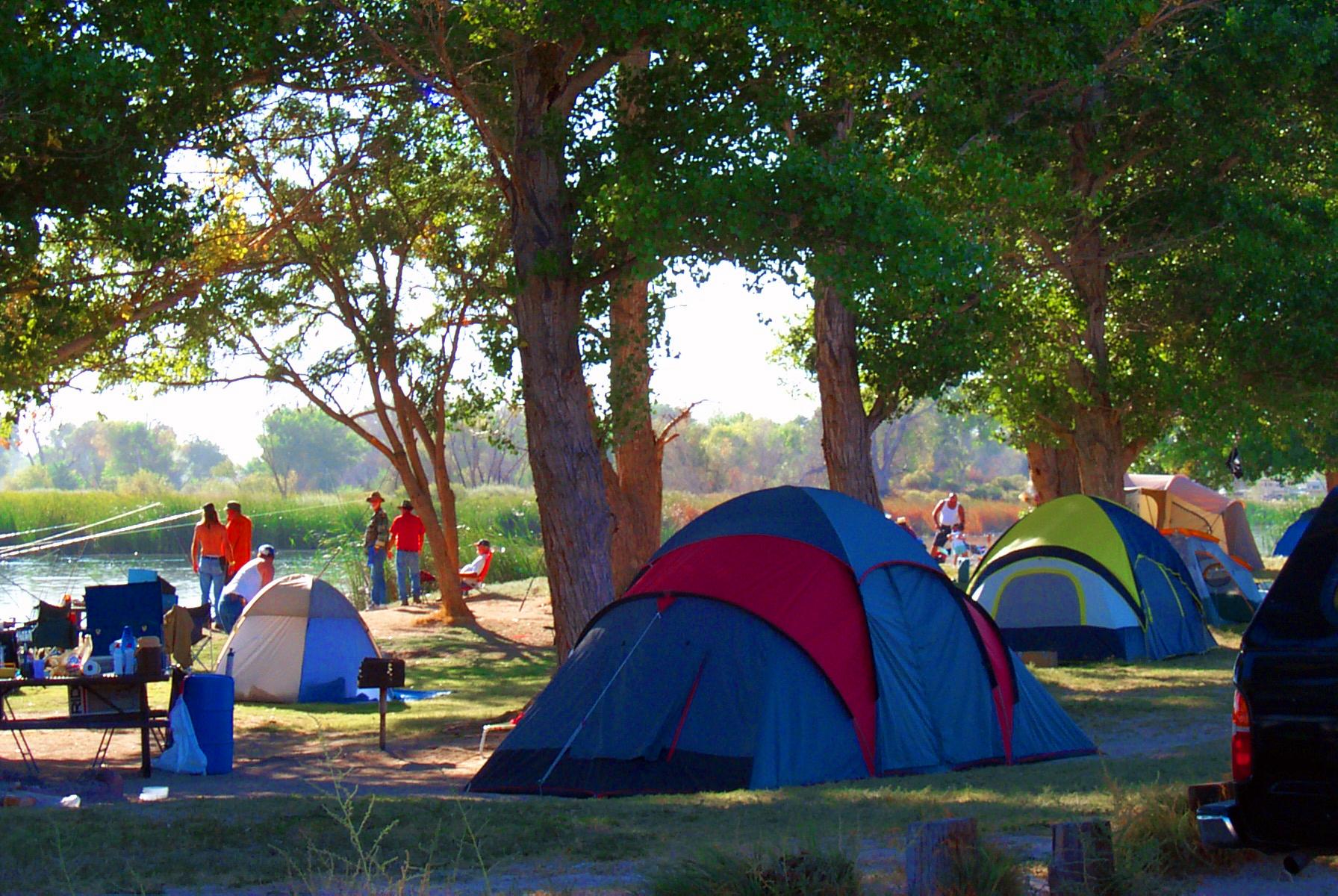 Camping at Mojave Narrows