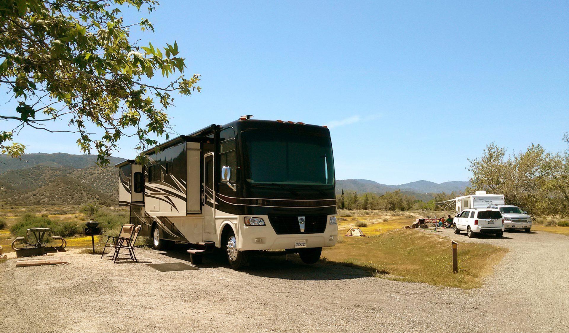 RV at Mojave River Forks