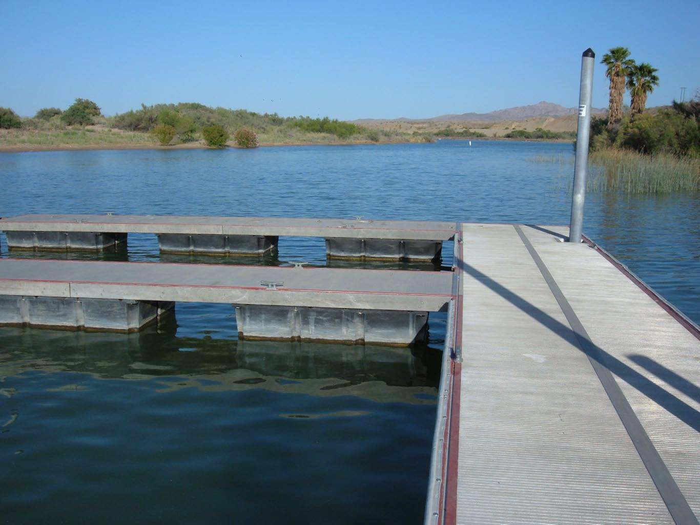 Dock on Moabi Lake
