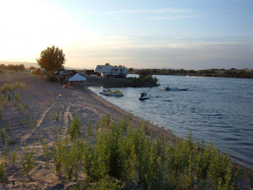 lake and camper