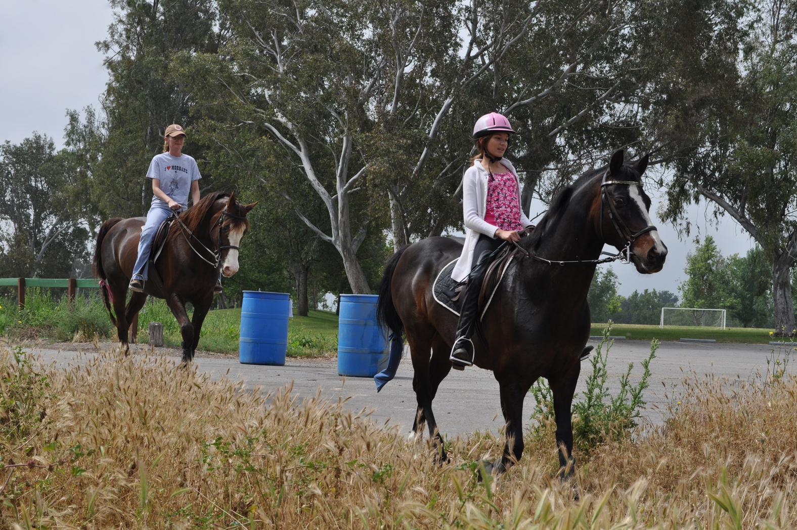 Horse riders at Prado
