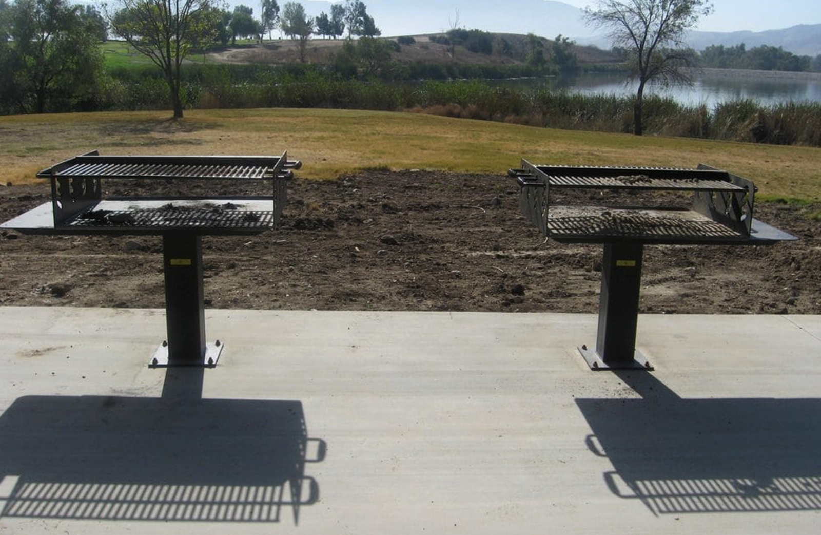 Barbecue grills at Prado park.