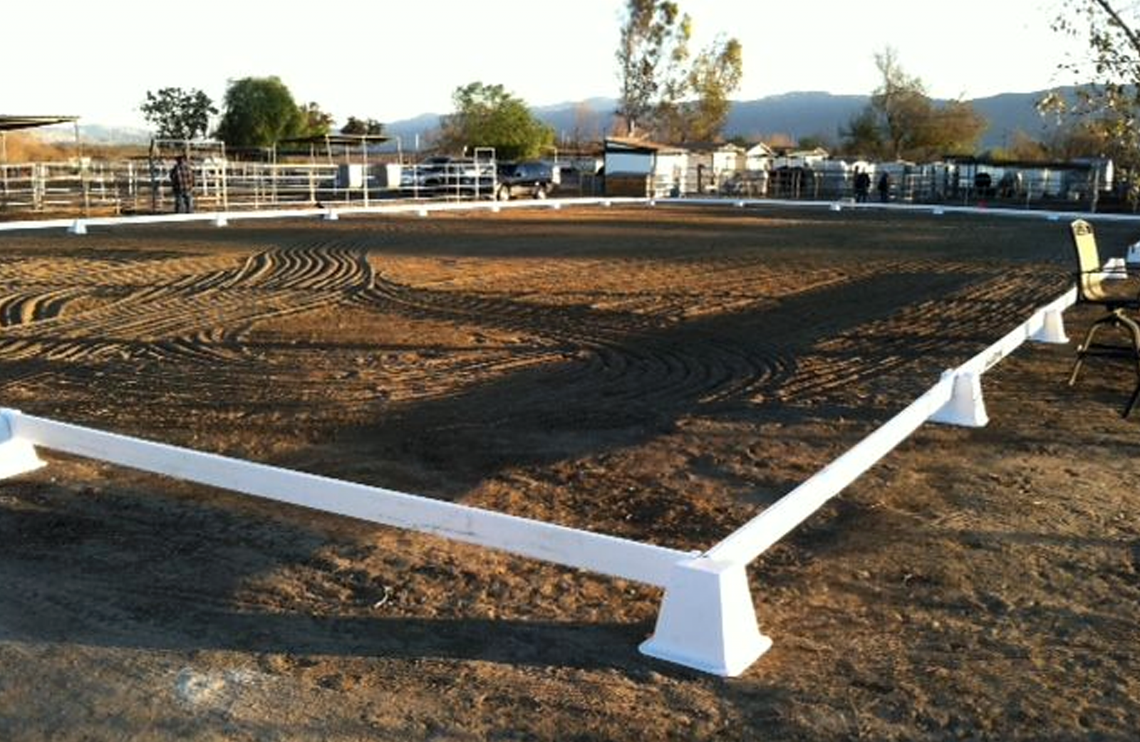 Prado Equestrian Center training corral.