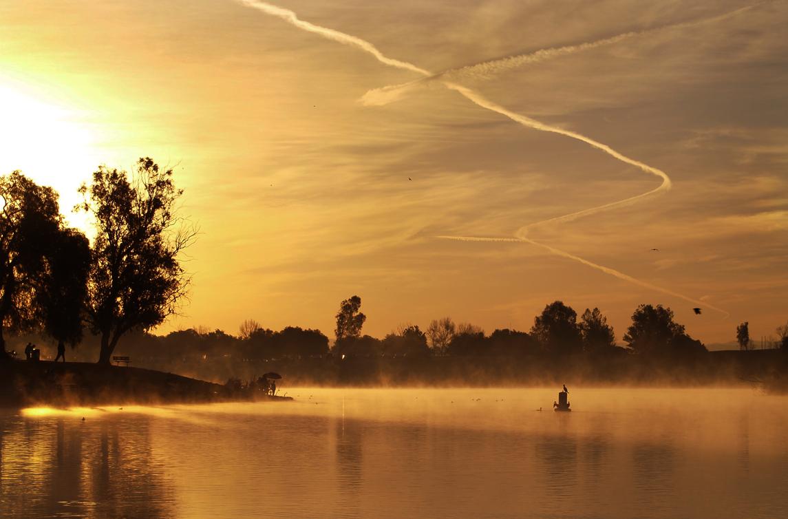 Sunset over Prado lake