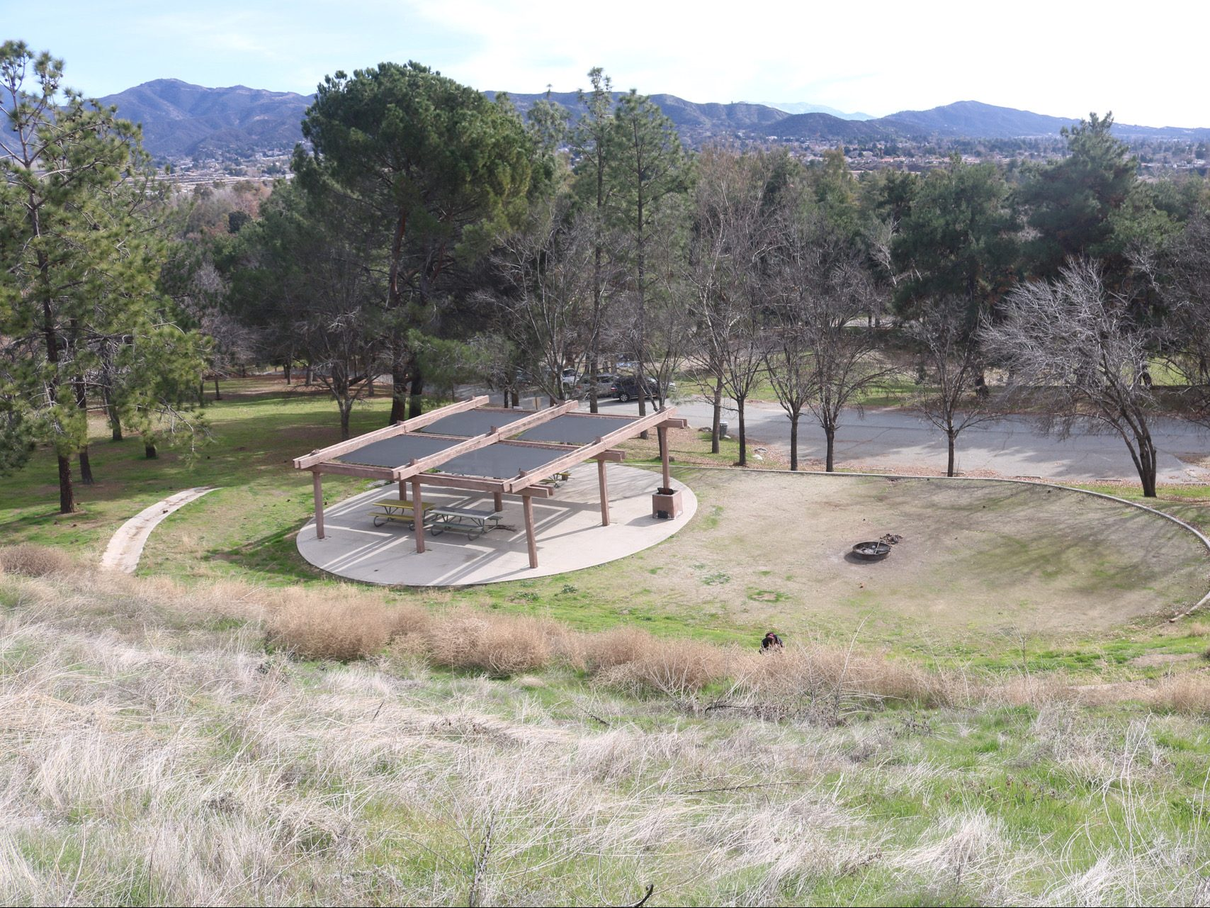 Yucaipa Landscape over looking picnic shelters