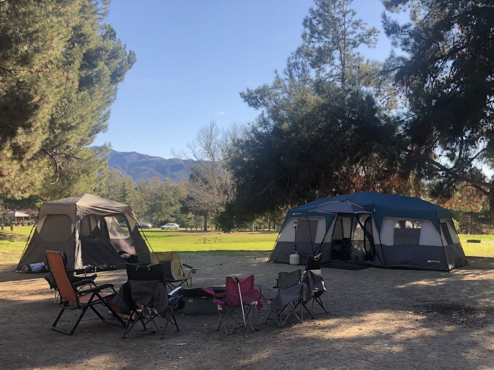 2 tents at Yucaipa Camping ground