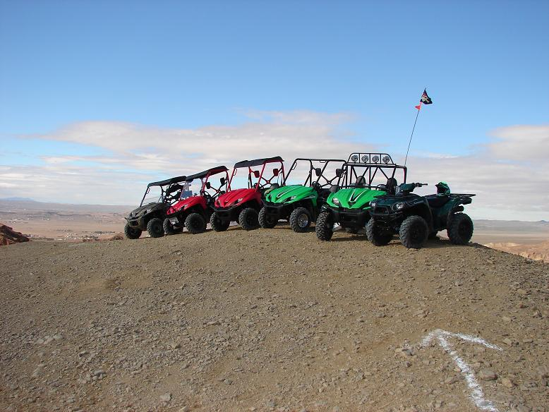 ATVs on hill