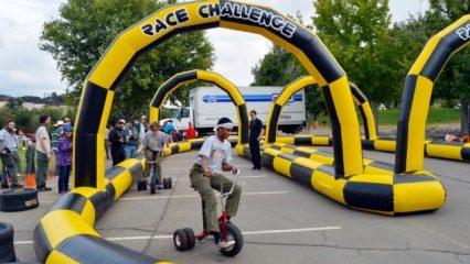 Teens Racing Tricycles