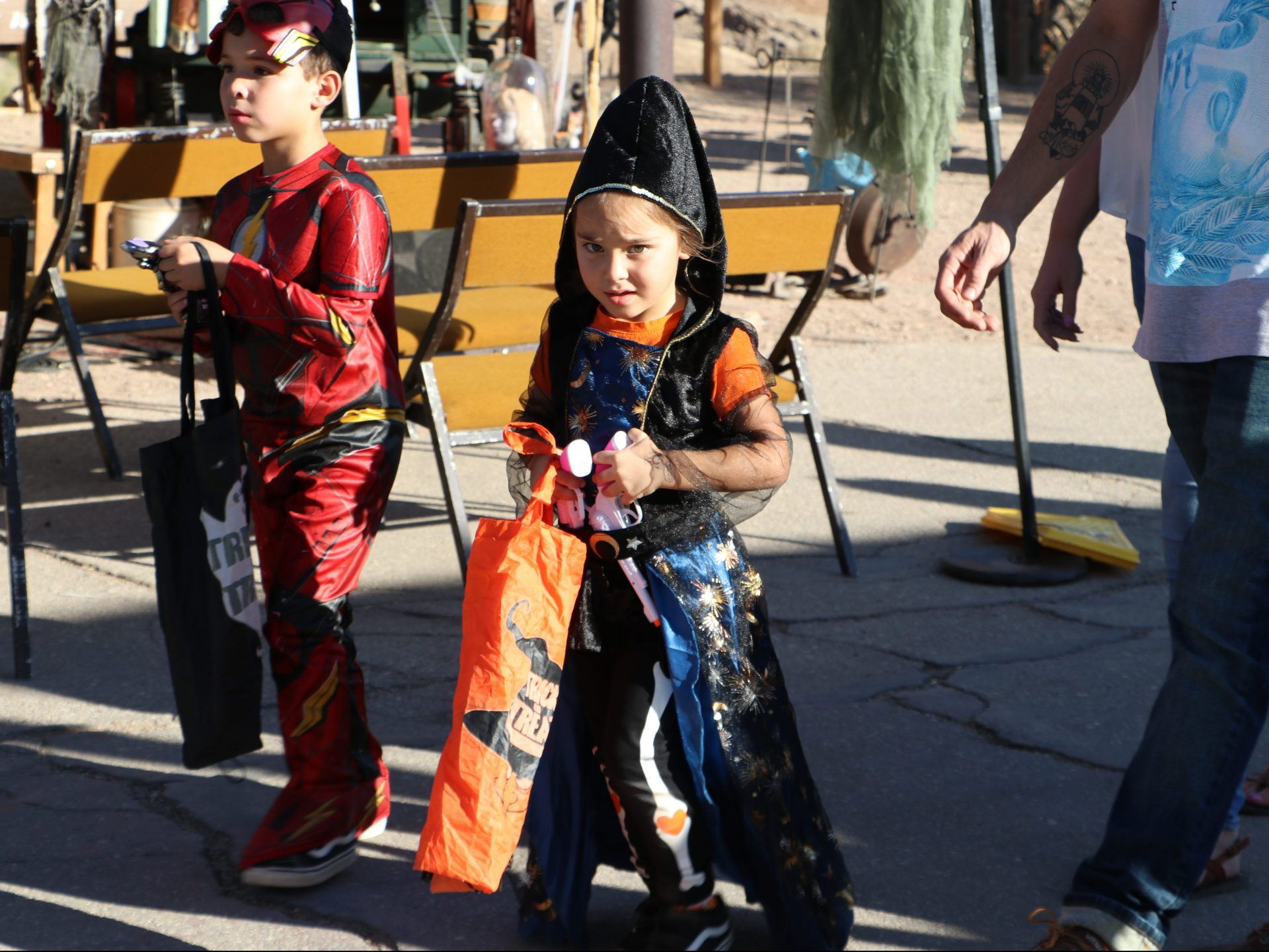 Kids in Costumes for Halloween at Calico