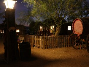 Calico at night during Halloween