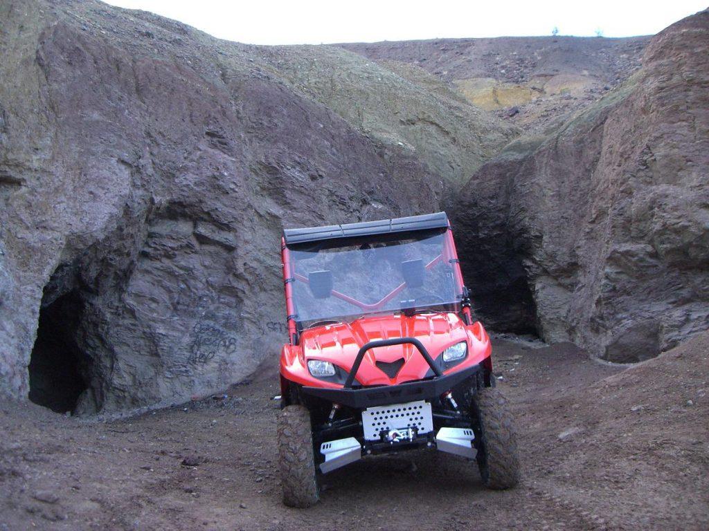 ATV at mine shaft