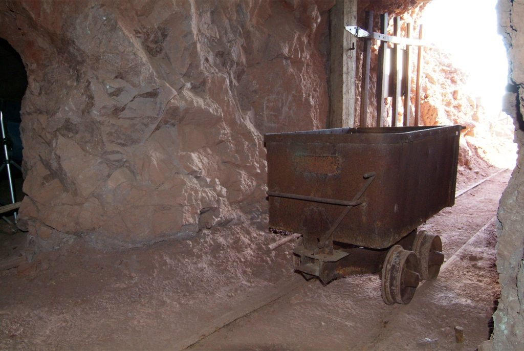 Mine cart at Calico