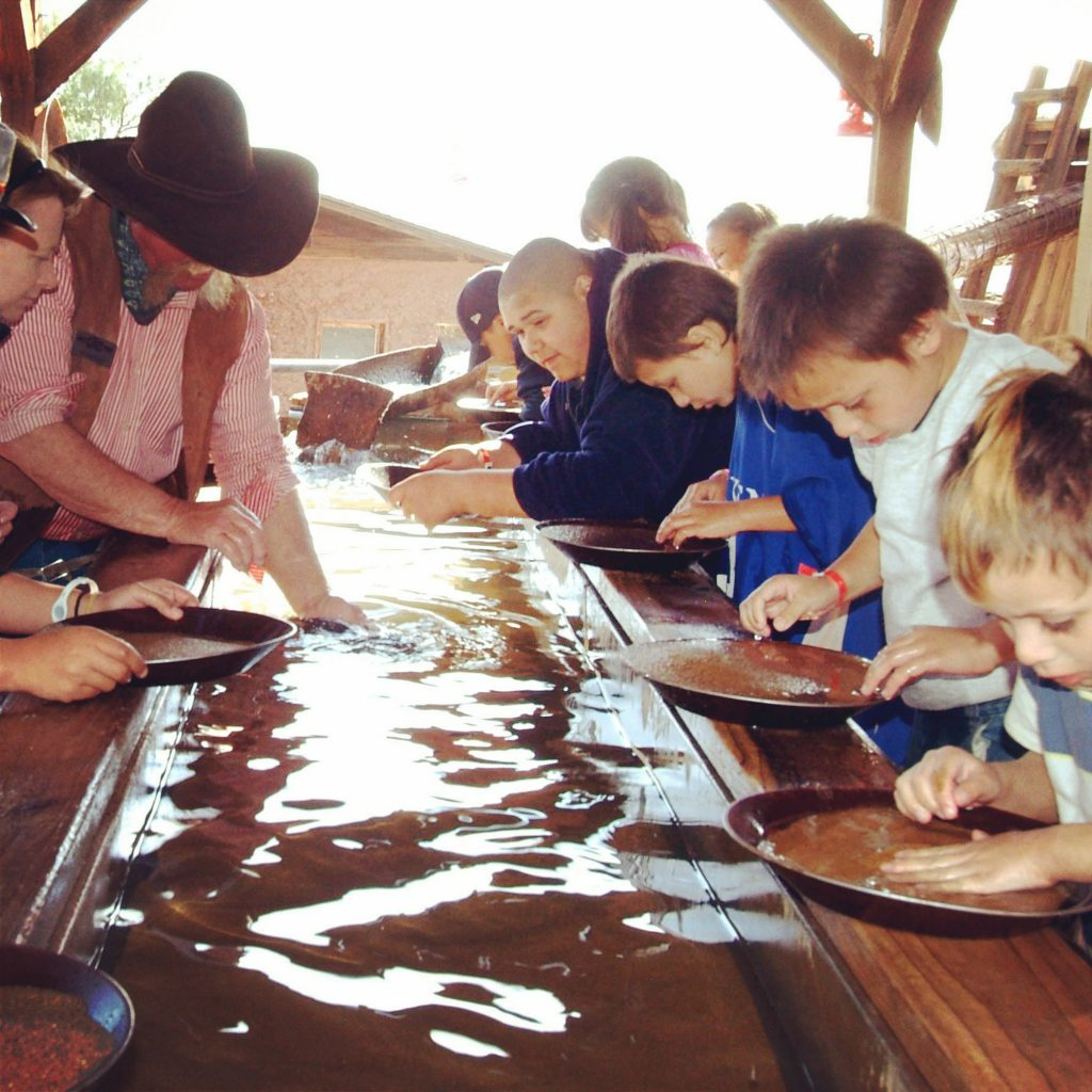 Faded gold panning photo