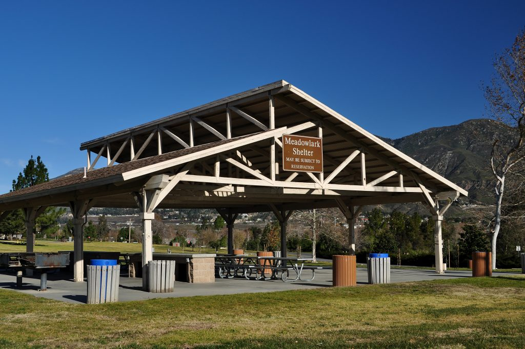 Photo of a picnic shelter at Glen Helen