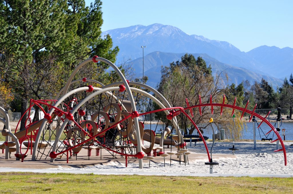 Photo of a playground at Glen Helen