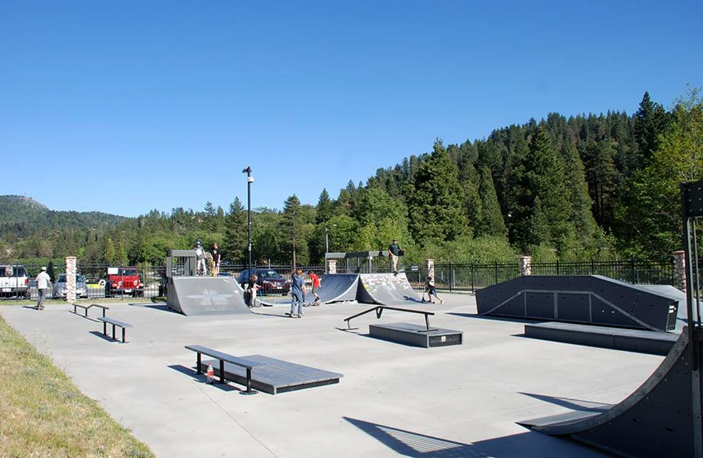 Photo of the skate park at Lake Gregory
