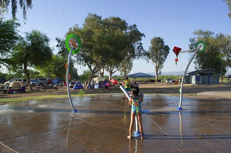 Photo of the Splash Pad at Moabi