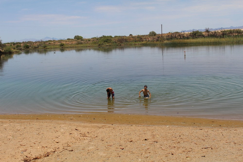 kids playing at moabi swimming area